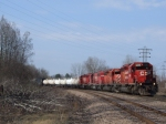 413 with a varied SD40-2 consist